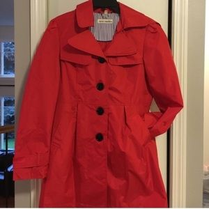 Steve Madden Red Tench Rain Coat